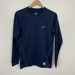 Nike Pullover Sport Long Sleeve Blue Sz: L